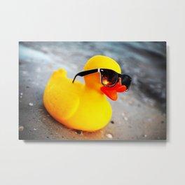 Beach Duck Metal Print