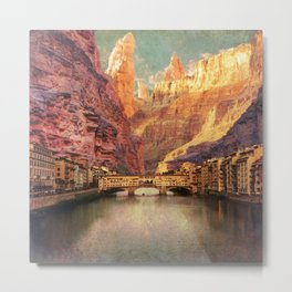 Grand Bridge @ Old Canyon Metal Print
