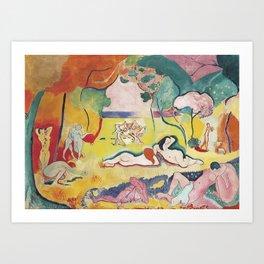 Matisse le Bonheur de Vivre (The Joy of Life) by Henri Matisse Art Print
