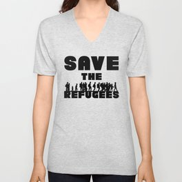 SAVE THE REFUGEES Unisex V-Neck
