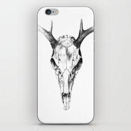 Deer Skull in Pencil iPhone Skin