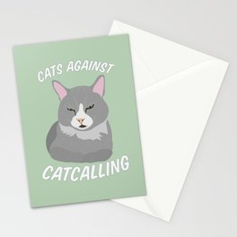 Cats Against Catcalling Stationery Cards