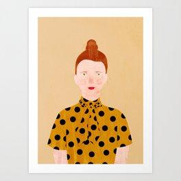 Miss Lily Art Print
