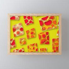 red spotted rectangles Framed Mini Art Print