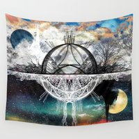 discount Wall Tapestries featuring TwoWorldsofDesign by J.Lauren