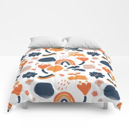 Bold Retro Floral Comforters