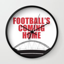 """England Football Team Quote """"it's coming home"""" World Cup 2018 Wall Clock"""