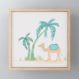Limited Edition - Tropical Camel Framed Mini Art Print