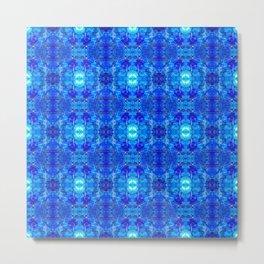 Pattern 50 - Blue plastic recycling bottles Metal Print