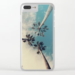Palm tree, Tropical decor Clear iPhone Case