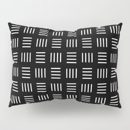 four lines 3 black and white Pillow Sham