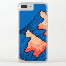 The deep blue peaks Clear iPhone Case
