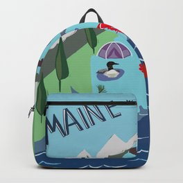 Maine Map Backpack