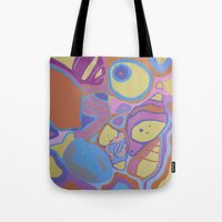 shells Tote Bags featuring SHELLS by Valentina Paglia