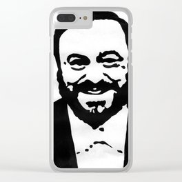 Luciano Pavarotti Clear iPhone Case