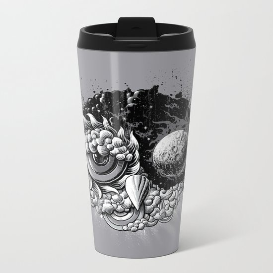 Owl Day & Owl Night Metal Travel Mug
