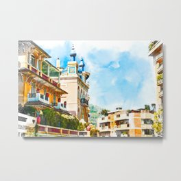 Monaco, Monte Carlo Cityscape Metal Print
