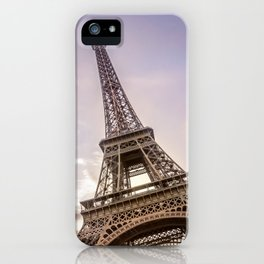 PARIS Eiffel Tower at sunset iPhone Case