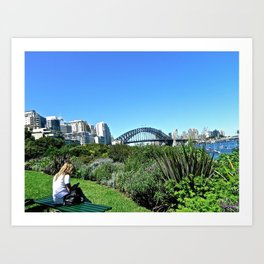 Relaxing in Sydney. Art Print