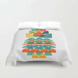 Colorful Whimsical Ananas Duvet Cover