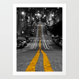 Down the Line: Mason Street and Cable Car Lines Art Print
