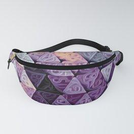 Triangles Purple Swirls Fanny Pack