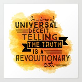 Revolutionary Act - quote design Art Print