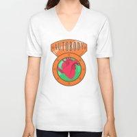 bioshock infinite V-neck T-shirts featuring Betterman's Autobody - Bioshock Infinite by Jacob Hansen