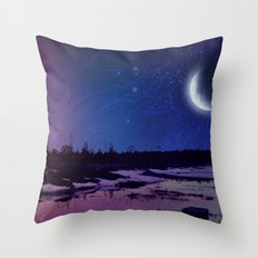 Night - From Day And Night Painting Throw Pillow