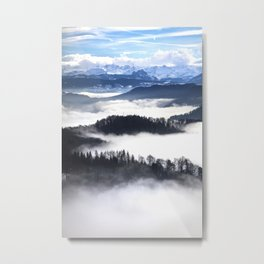 Sea of Fog in the Alps II Metal Print