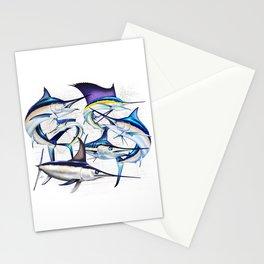 Pacific Billfish Slam Marlins,Sailfish,Swordfish,Spearfish Stationery Cards