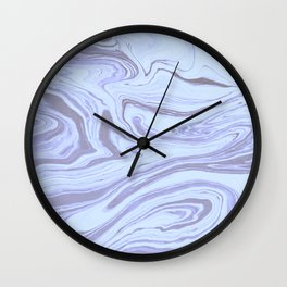 White and Lilac Marble Wall Clock