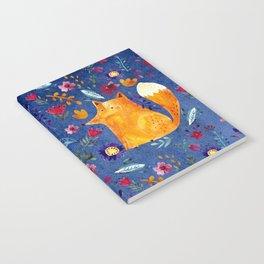 The Smart Fox in Flower Garden Notebook