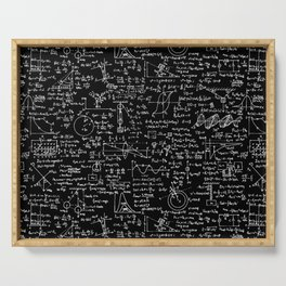 Physics Equations on Chalkboard Serving Tray