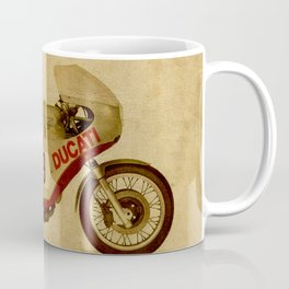 motorcycle number 9 vintage bacjground old logo Coffee Mug