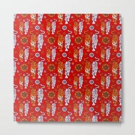 Tigers pattern 4 Metal Print
