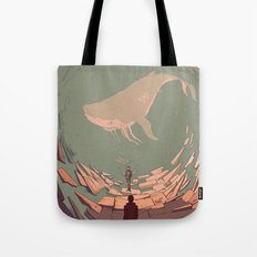 DH: Late Night Whale Tote Bag