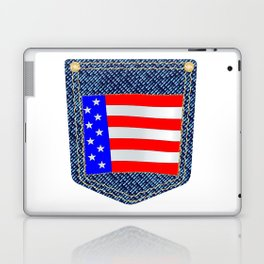 Stars and Stripes Denim Pocket Laptop & iPad Skin