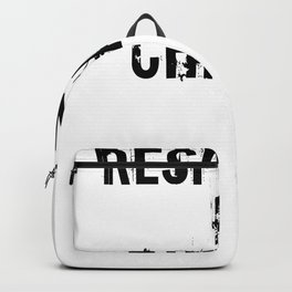 Respected In Chicago Design for Chicago Lovers Backpack