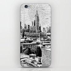 New York City - Fingerprint - Black ink iPhone & iPod Skin