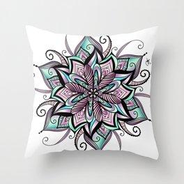 Mandala peacock by sonia H. Throw Pillow