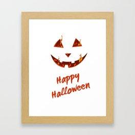 happy halloween bonfire Pumpkin gift hallowe Framed Art Print