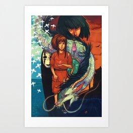 KAMIKAKUSHI Art Print