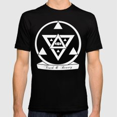 Truth and Beauty Black Mens Fitted Tee MEDIUM