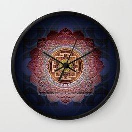 Sensual Flow Lakshmi Meditation Mandala Wall Clock