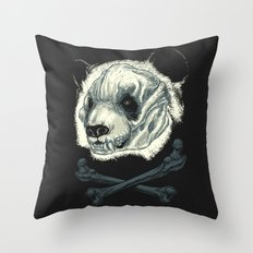 Hardcore Panda! Throw Pillow