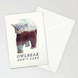 Owlbear (Typography) Stationery Cards