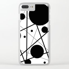 Abstract Lines and Dots Clear iPhone Case