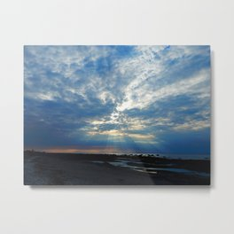 Sun Rays on a Cloudy Day Metal Print