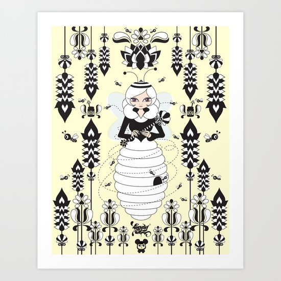 Lady Honey Art Print